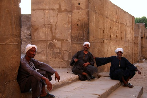 Workers Rest At Luxor Temple