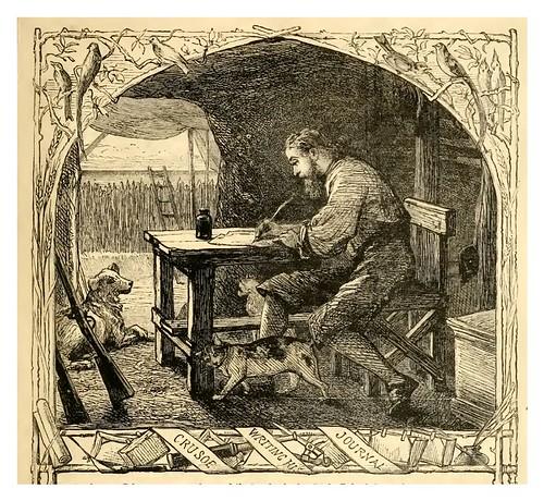07- Crusoe escribiendo su diario