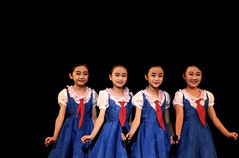 North Korean Kids (ShanLuPhoto) Tags: idea day kim propaganda flag north games korea il communism national gymnastics leader mass dear socialism jong pyongyang sung dprk  arirang juche