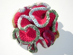Hyperbolic Crochet - Pink / Multi - closed (Quoin) Tags: pink handmade crochet multicoloured australia yarn crocheted instituteforfiguring crocheting hyperbolic quoin freeformcrochet crenulated hyperboliccrochet space 3d hyperboliccrochetcoralreef hyperbolic