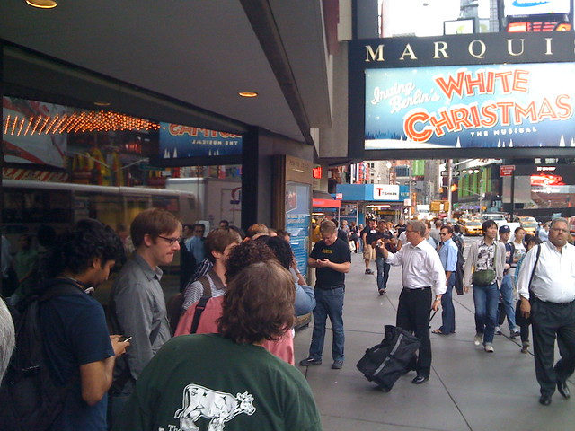 Seagate fans in Times Square