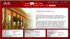 ChaCha About Company Info page