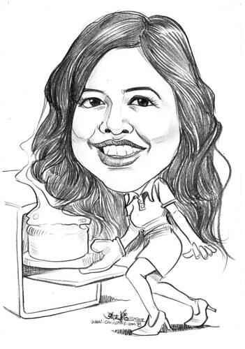 Caricature for SIA baking theme