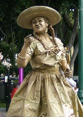 Rancherita,estatua humana