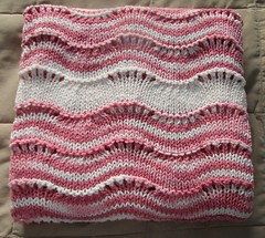 strawberry & cream baby blanket