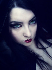 Embrace (Sombre Dreams Photography) Tags: woman green girl female eyes gothic goth makeup hood jeanette coolshot ardley dagwanoenyent gothicculture stealingshadows