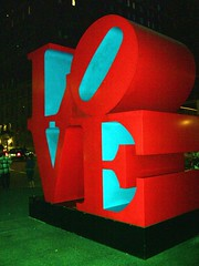 Love (pbruch) Tags: nyc sculpture ny newyork love night dark letters lovers