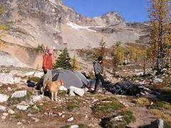 Bob and Kolleen camping at Wing Lake (Sadie visiting!) in 2006