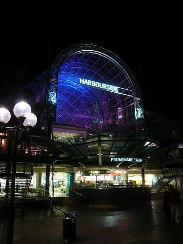 blog voyage australie sydney whv backpacker travel darling harbour harbourside nuit