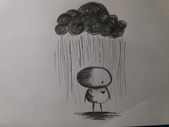 rainy days. (pippa luna) Tags: cloud broken rain pencil sad heart drawing emo