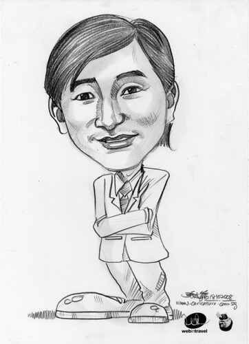Caricatures Web in Travel 2008 Michael Yap