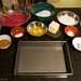 Red velvet cake: mise en place