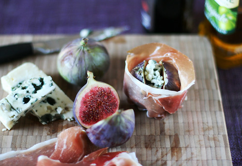 Figs Roasted with Roquefort and Prosciutto