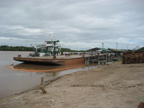 Oil boat ported in La Boca, Yurimaguas