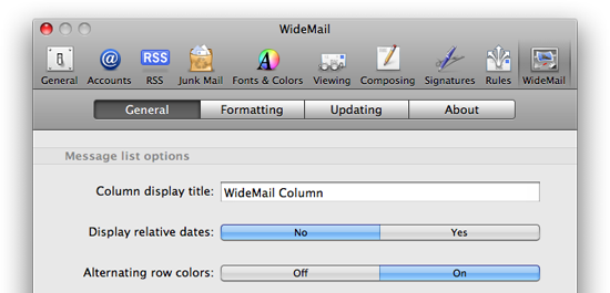 Mail Plugin: WideMail 1