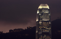 Dark Night (A Sutanto) Tags: china light mountain storm black building tower glass architecture modern night clouds skyscraper dark hongkong lights office twilight asia torre tour view dusk contemporary steel hill edificio officebuilding peak stormy highrise crown tall turm ifc hongkongisland victoriapeak southchina wolkenkratzer ifc2 rascacielo gratteciel 2ifc internationalfinancecentre