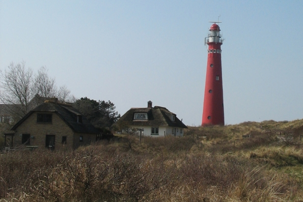 Red lighthouse on Schiermonninkoog, Friesland