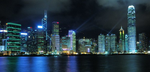 Hong Kong - Central Skyline por cnmark.
