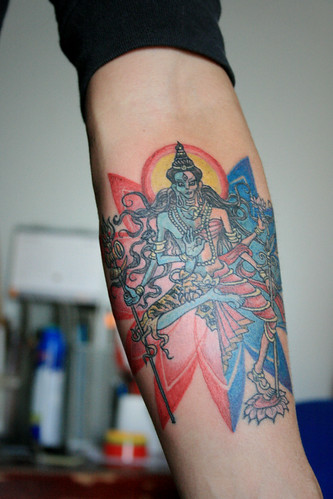 guy's tattoo ☠ Ardhanarishvara .