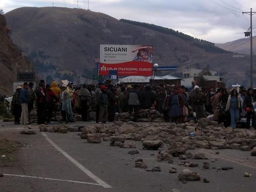 Paro en Sicuani