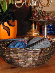 Morning Glory Basket (sarahracha) Tags: green spiral basket recycled woven coil weave plasticbags plarn