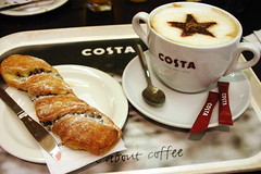 it's all about the coffee (Jasmic) Tags: morning food costa coffee breakfast star drink chocolate sugar danish pastry tray caffeine cappuccino refreshing invigorating sprinkle