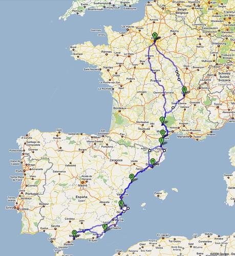 Paris-Lyon-Malaga-Barcelone-Paris
