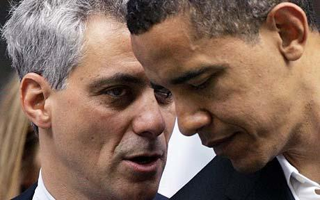 Rahm and Barack in The Telegraph