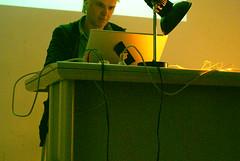 Jodi lecture at Erg (Marc Wathieu) Tags: park people info lecture geo dirk imal jodi goo ecole erg graphique recherche paesmans ergartnum