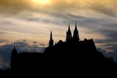 Silhouette of Cathedral and Castle in Meissen, Germany (Tobi_2008) Tags: sunset castle germany deutschland cathedral cloudy dom saxony sachsen allemagne soe silhoutte germania burg meissen smörgåsbord digitalcameraclub bej platinumphoto anawesomeshot aplusphoto ysplix theunforgettablepictures unforgettablepicture theperfectphotographer goldstaraward spiritofphotography overtheshot llovemypics toisóndeoro