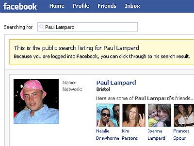 Paul Lampards facebook profile