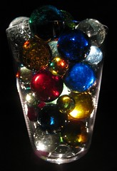 Childhood Games (dart5150) Tags: blue light red green colors gold cupcakes boulders marbles wineglass kidsgames clearies