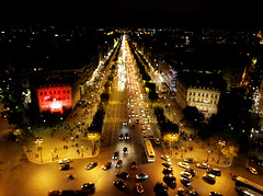View down Avenue des Champs-Elysees