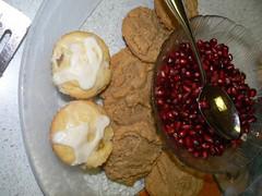 Mini fruit swirl cakes