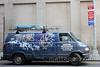 Van with graffiti, NYC