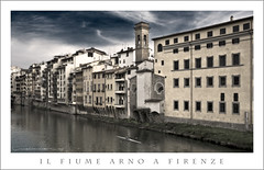 Il Fiume Arno A Firenze (Rex Maximilian) Tags: sunset italy water river florence europe kayak italia fiume tuscany rowing firenze arno toscana waterway pontevecchio