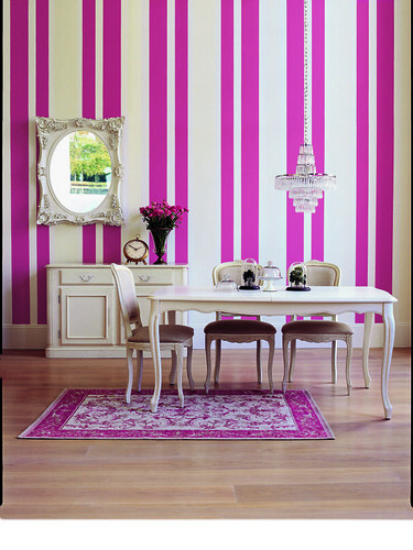 pink dining roomset