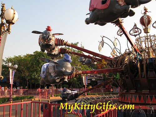 Hello Kitty's View of Dumbo the Flying Elephant in Fantasyland, Hong Kong Disneyland