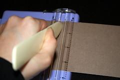 Scoring the cardstock