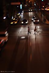 PED XING (Light Stalker) Tags: lensbaby 350d xt streetphotography pedestrian 3g f4 carheadlights lensbaby3g