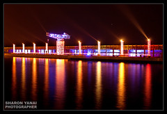 - Hanuka at Tel-Aviv Port (SharonYanai.com) Tags: color reflection water lights  sharon  yanai          sharonyanai wwwsharonyanaicom wwwsharonphotocom  greatshotss