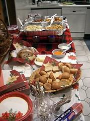 Christmas Eve Dinner #2 (MoToMo) Tags: christmas xmas family food holiday kitchen festive bread table dish plate eat setting warmer sterno