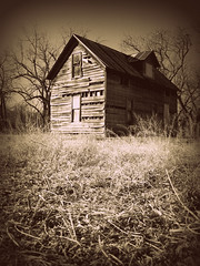 (Sinister Blue Note) Tags: wood old trees house building tree abandoned oklahoma home monochrome grass sepia farmhouse rural america dead wooden time decay farm empty branches awesome country ruin scene monochromatic structure oldhouse forgotten age american abandonedhouse americana tall aged walls ba tulsa ok vignetting aging derelict vignette baretrees clapboard abandonment deteriorated tinroof tallgrass brokenarrow sepiatoned barebranches modernruins deteriorating leftbehind timeworn timewarped wagonercounty tinroofed danwatsonphotography sinisterbluenote