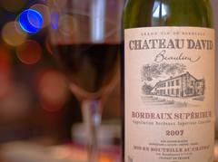 Chateau David (Skink74) Tags: 20d glass bottle wine bokeh bordeaux eos20d claret nikkor35f14 bordeauxsuperieur chateaudavid nikkor35mm114ai