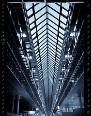 A NEVERENDING CEILING (yART photography) Tags: architecture hannover soe blueribbonwinner supershot ceilingview cebithannover platinumphoto flickrdiamond goldstaraward canoneosrebelxsi unusualviewsperspectives yvonnemartejevs sigmaex1020mm456dchsm