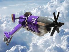 Steel Wind (JonHall18) Tags: plane fighter lego aircraft fantasy scifi vehicle moc skyfi dieselpunk dieselpulp