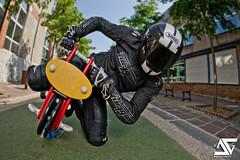 Training Day (A.G. Photographe) Tags: fish france star nikon fisheye alpine ag moto motorcycle nikkor français hdr motard anto shoei photographe xiii 279 16mmfisheye strobist hdr1raw d700 furigan antoxiii agphotographe