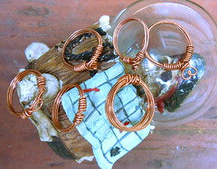 Chester Copperpots Collection of Copper Rings (JustinGeer) Tags: justin sea found lost skull shiny treasure jewelry ring adventure collection pot chester rings booty pirate copper simple copperpot geer
