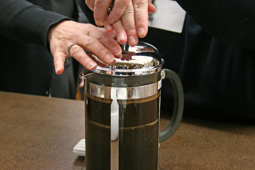 Hands on the French Press