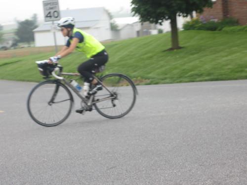 Yiping heading into controle #10 Leola, PA